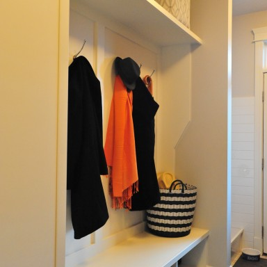 Calgary Custom Mudroom and Dog Shower